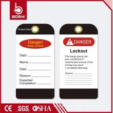 Etiqueta de bloqueo de advertencia BOSHI BD-P15, OEM Aceptable