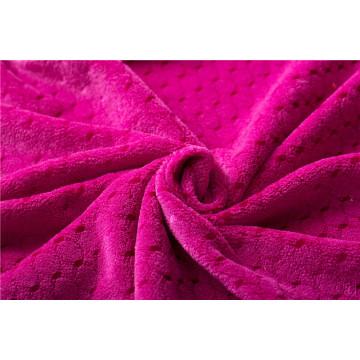 material de tela de lana de coral de felpa para manta