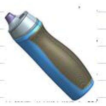 500ml Custom plastic water bottle, BPA free water bottle