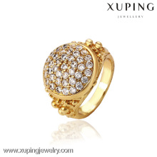 12741- Xuping Schmuck Mode Elegant 18K Gold Plated Man Ring