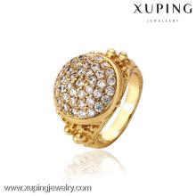 12741- Xuping Jóias Moda Elegante 18K Banhado A Ouro Anel De Homem