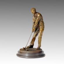 Sport Statue Wettkämpfer Golf Bronze Skulptur, Milo TPE-222