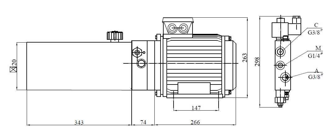 Power Unit for Dock Leveler (2)