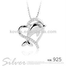 Niedlicher Delphin 925 Sterling Silber Anhänger für Mädchen
