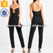 Verzierte Belted Stretch-Wolle Gabardine Jumpsuit Herstellung Großhandel Mode Frauen Bekleidung (TA3008J)