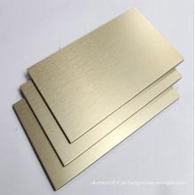 Painel composto de alumínio escovado a ouro ACP