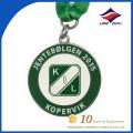 2015 Medallas verdes y blancas de encargo de la alta calidad del esmalte del color