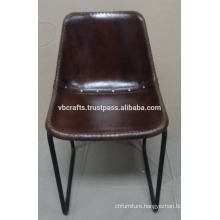 Industrial Chair Soft Leather Seat