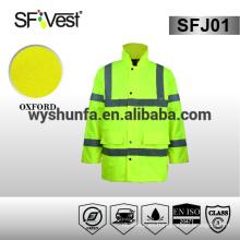 Chaqueta de seguridad reflectante 100% poliéster chaqueta impermeable ligera ropa de seguridad EN ISO 20471