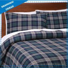 3 Stück Tartan Baumwolle Bettbezug Set