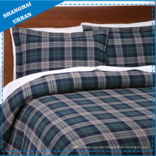 3 PCS Tartan Cotton Duvet Cover Set