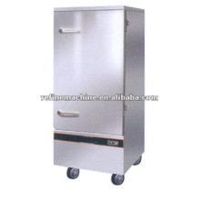 luxury stainless steel single door steam rice machine