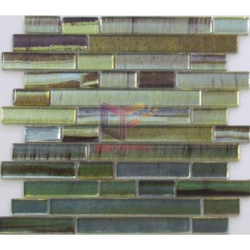 Art Pattern Long Strip Glass Made Mosaic Tiles (CFS614)