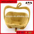 plegable cesta de madera de fruta colgante