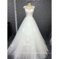 2017 newest modern A-line sleeveless armhole wedding dress