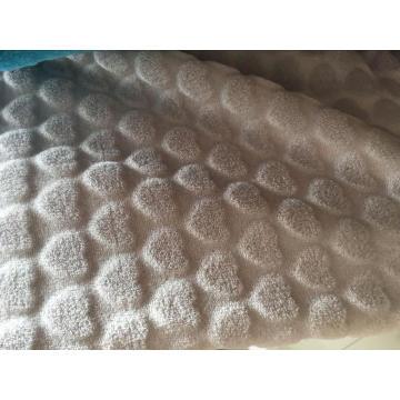 Flannel Shining Jacquard heart design Knitting Fabric
