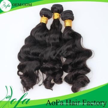 Высокое Качество 100% Бразильских Волос Объемная Волна Волос Расширением