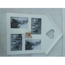 China Manufacturers for Bowknot Decoration Wood Photo Frame House Shape Wooden Picture Frame supply to Kuwait Factory