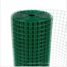 A rede de arame quadrada revestida PVC / soldou a rede de arame