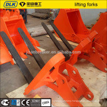 pallet forks excavator zoomlion forklift excavator parts good quality
