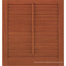 Stain Color wooden timber louver window shutter