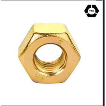 DIN439 Hex Thin Nut Yellow Zinc