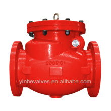 FM UL Approved Resilient Seated Flanged Ends Swing Check Valve
