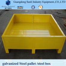 Conteneur de palette en métal d'entrepôt