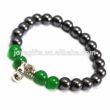 2014 New Arrival 4pcs Natural Green Aventurine Gemstone With Magnetic Therapy beads and Calabash Pendant Bracelet
