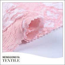Tissu jacquard rose classique professionnel teint en 100% polyester