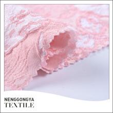O fio jacquard clássico profissional do rosa tingiu a tela 100% do poliéster