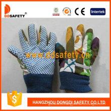 Kids/Childredn Gloves. Blue Dots on Palm (DGK416)