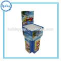 Heiße verkaufende Pappwühlkörbe mit entfernbarem Vorsatz, Pop-Papier-Anzeigen-Kästen Süßigkeits-Wühlkörbe