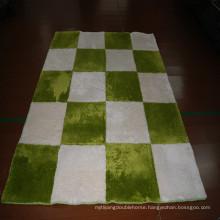Modern round rug patchwork cowhide carpet