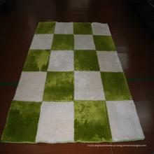 Tapete redondo moderno do couro do retalhos do tapete