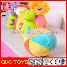 Customized logo promotional gift plush baby toy