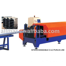 Interchangeable C and Z Purlin Line