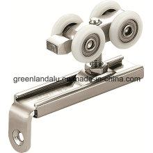 Hardware de rodillos deslizantes para puertas de madera con carril de aleación de aluminio