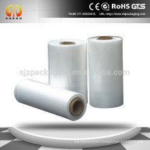 PE heat shrink wrap film on roll for food bottle packaging
