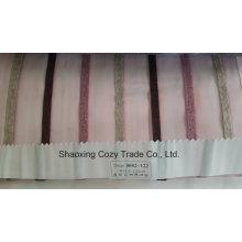 Nouveau tissu décoratif de rideau Organza Voiture à rayures de projet populaire 0082122