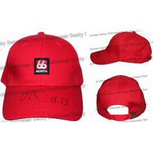 Caliente personalizado 100% algodón de color rojo Cap
