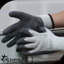 SRSAFETY 7ga Knitted Liner Latex Coated warm safety working gloves
