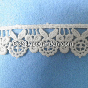 2.5cm Width Water Soluble Lace in White Color