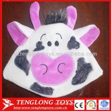 New design hot sale kids lovely cow plush winter beanie hat