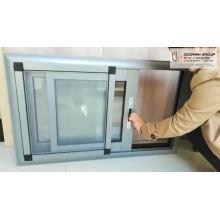 Bronze anodized aluminum windows bottom hinged blinds