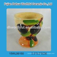 Mini taza de huevo de cerámica con figura de oliva