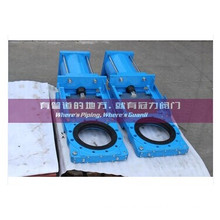 Kgd Slurry Knife Gate Valve Pneumatic Actuator