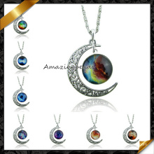 Collar de la joyería, joyería pendiente de la manera del collar de la luna de la aleación del metal (fn044)