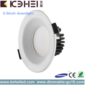 9W 2.5 ou 3.5 pouces LED Downlights aluminium