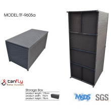 Various color rattan storage box with lid.